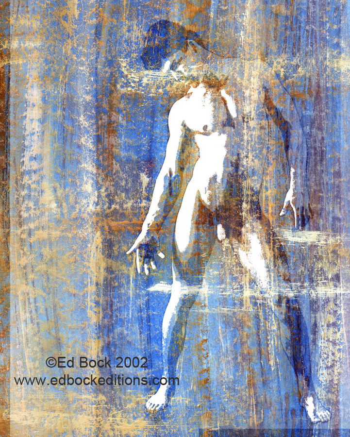 Nude, figure, Fusionnée, fusion, fusionnee, image, photo, art, painted, color, man, male, blended, merged, acrylic, watercolor, digital, artwork, colorful, figures, people, person, abstract, fine art, prints, editions, contemporary, naked, modern, expressionism, expressive, realism