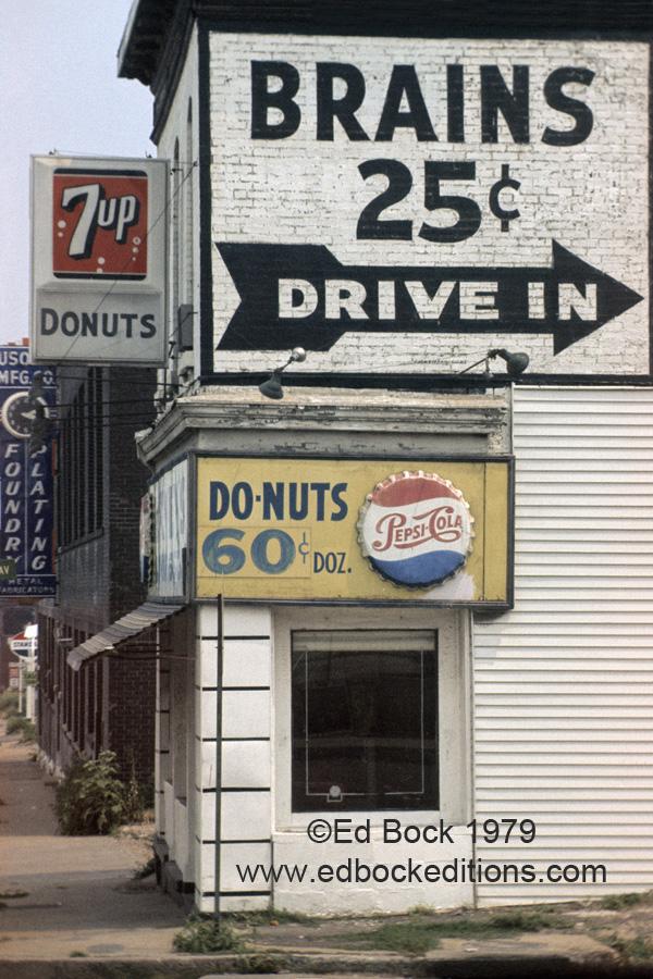 americana, brains, sign, Saint Louis, streetscape, drive in,